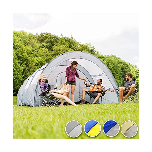TecTake 800588 XXL Camping Tunnel Tent with Foyer 4-6 persons 3