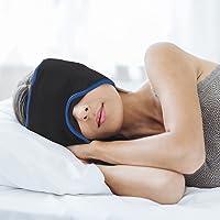 mysleepmask Schlafmaske inklusive 2 Ohrstöpseln und 2 Gelpads Bequeme Bio-Baumwolle für absolute Ruhe und Dunkelheit…