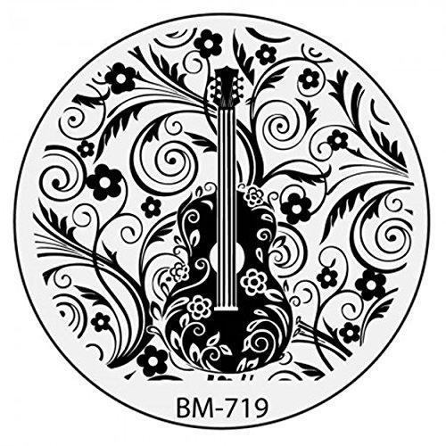 Stamping Pochoir Plate BM 719 Bundle Monster Fleurs Flower Tribal Nail Art Design