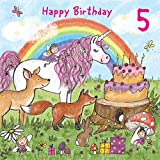 Best Cousin Girls - Twizler 5th Birthday Card for Girl with Magical Review