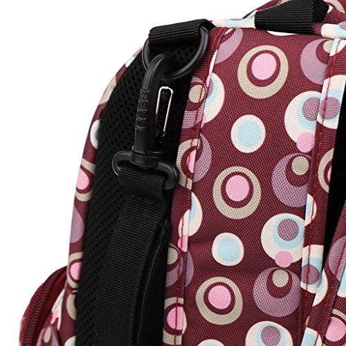 Gazechimp Multifunktions Groß Kapazität Schultertasche Mummy Taschen Umstandsmode Rot