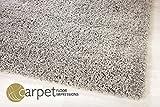 Shaggy Hochflor Teppich Silber Grau in 160x230 cm