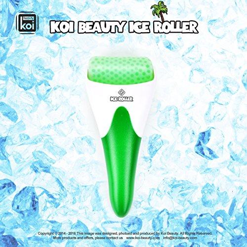 Koi Beauty Derma Haut Ice Walzenkühlung für Gesicht Körpermassage Augen Puffiness Behandlungen und Cold Packs Material Edelstahl Gummi grün