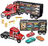 Prextex - Camión de Transporte Desmontable Transportador de Coches de...
