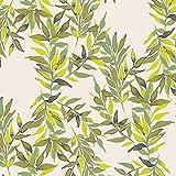 Art Gallery Fabrics - Jersey Stoff Meterware mit Blättern