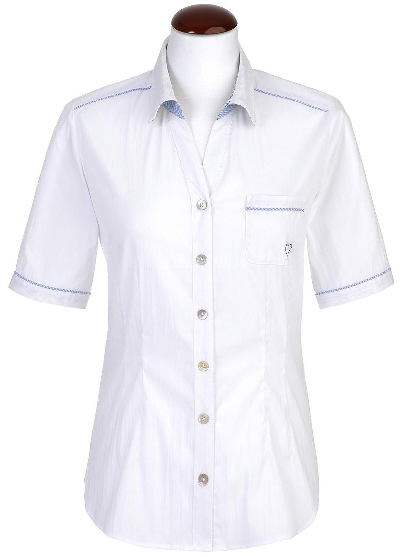 Spieth /& Wensky Estland-Bl Da Damen Trachten Bluse in weiß,
