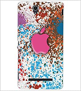 PrintDhaba Apple D-5359 Back Case Cover for SONY XPERIA C3 (Multi-Coloured)