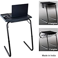 TABLE MAGIC- Midnight Black Laptop Table, Adjustable Height Kids Study Mate, Multiple Usage Table for Home at Any Place.