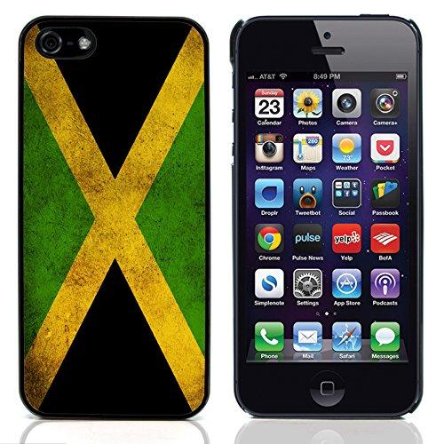 Graphic4You Vintage Uralt Flagge Von Jamaika Jamaikaner Design Harte Hülle Case Tasche Schutzhülle für Apple iPhone 5 und 5S Jamaika Jamaikaner