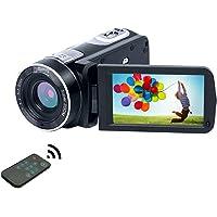 Caméscope 1080P 24.0MP LCD 3,0 Pouces avec écran à 270 degrés de Rotation camescope avec télécommande pour Youtube