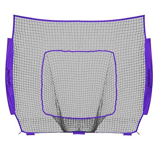 ChampionNet Baseball/Softball 7'x 7' Net Ersatz Universal zu Schleife Stil Net, Team Farbe (Nur Netz), Violett -