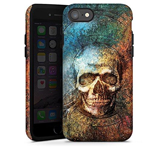 Apple iPhone X Silikon Hülle Case Schutzhülle Psycho Totenkopf Skull Tough Case glänzend