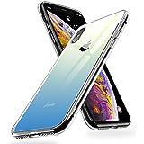 humixx iPhone X Hülle,Hochwertigem 9H Gehärtetem Glas Rückseite mit TPU Rahmen Schutzhülle,Ultra Dünn Handyhülle,Perfekter Schutz Hülle für iPhone X (5.8)-Farbverlauf Blau