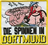 Die Spinnen in Anti DORTMUND Obelix Fussball Fanclub Kutte Aufnäher Patch