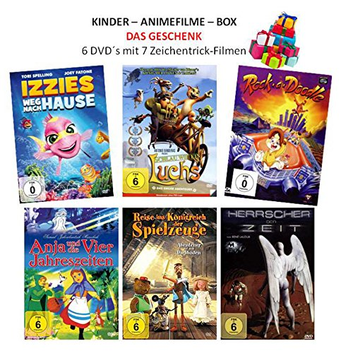 Kinder - Anime - Filme Box Collection (Das Geschenk 7 Filme-6 DVDs)
