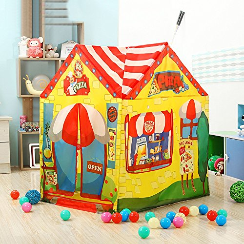 Wadwo Kinder Spielzelt Rosa und grün Cartoon Muster Prinzessin Spiel Haus Schloss Spielzeug Zelte (nur EIN Zelt) -by Virtper (Farbe : #B)