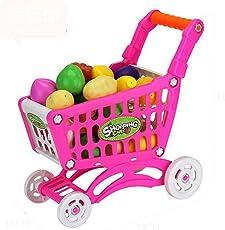 Kinder Einkaufswagen Push., mamum Einkaufswagen Obst Gemüse Pretend spielen Kinder Kid Educational Spielzeug Einheitsgröße rot