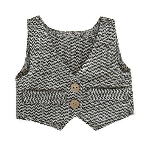 stüm Baby Junge Fotografie Requisiten fotoshooting Outfit 0-2 Monate Anzugsweste (Schwarz + weiß) (Zero Kostüm Für Babys)