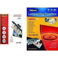 Fellowes 5396501 Pochettes de plastification A3 125 microns par 25 & 5396301 Pochettes de Plastification 125 Microns A4…