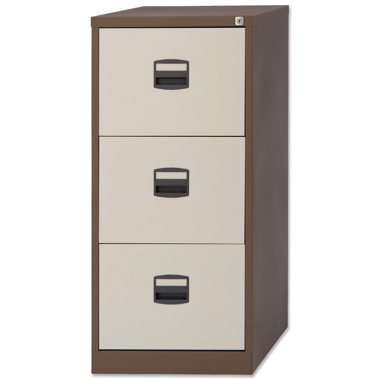 Trexus Filing Cabinet Steel Lockable 3-Drawer W470xD622xH1016mm ...
