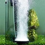 Hygger Auströmer Aquarium Luftstein, Sauerstoff Stein, Sehr Leiser Sprudler Aquarium, Teich Luftausströmer Geeignet für Teiche, Aquarien und Fisch Tank, Ideal für Aquarienluftpumpe, Schwarz