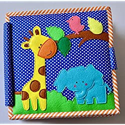 Cubs and Calves Magic Garden 8 Page Interactive Fabric Quiet Book (Multicolour)