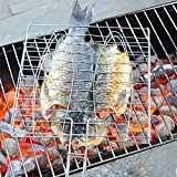 #10: AIHOME 1PC Iron Barbecue Racks Fish Grilling Mesh BBQ Chicken Meat Grill Basket Camping Picnics Tools Metal