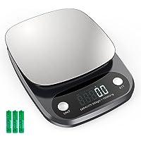 Balance Cuisine Electronique 10 kg, Balance de Précision avec Ecran LCD Jusqu'à 0,1 g, Balance Alimentairee en Acier…