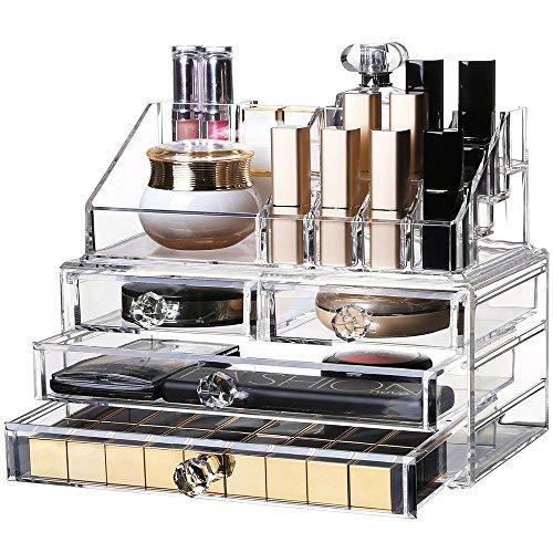Anself Acryl Aufbewahrungsbox Kosmetik Schmuck Schublade Transparent Make-Up-Tool Organizer Große Kapazität (Schublade-tool-box)
