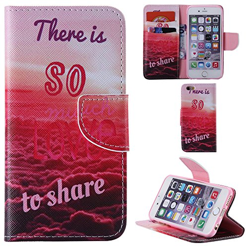 Ooboom® iPhone 5SE Coque PU Cuir Flip Housse Étui Cover Case Wallet Portefeuille Fonction Support avec Porte-cartes pour iPhone 5SE - Girafe So Much Love