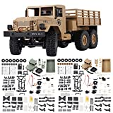 #8: Leoie 2.4G Remote Control Military Truck, 6 Wheel Drive Off-Road RC Car Model Remote Control Climbing Car Gift Toy for Kids