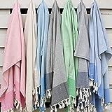ANATURE Traveler Telo hammam - 100% cotone - prelavato - super soft - uso diretto – Hammam towel – asciugamano bagno - asciugamano Backpacker - aciugamano mare - Baby coperte – Turkish towel - Pestemal – Fouta (Sand Beige)