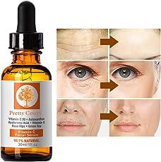 Vitamin C Serum, Gesichtsessenz Anti-Aging Anti-Falten-Haut aufhellen Firming Whitening Skin Care Repair Serum von Pretty Comy