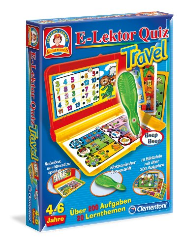 Clementoni-695409-E-Lektor-Quiz-Travel Clementoni 69540.9 – E-Lektor Quiz Travel -