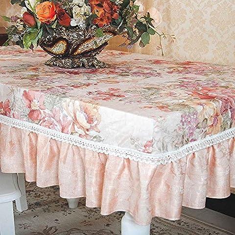 Longzhi High-End-Garten Stil Kaffee Tisch Tischdecke Tischdecke Tuch Tuch ein 130 * 180 Cm