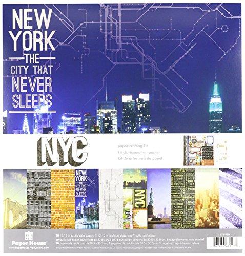 Unbekannt Paper House Papier, Kit 12Zoll x 12-inch-New York City - Tool House Kit