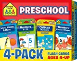Best School Zone Kid Books - School Zone - Preschool Flash Card 4-Pack, ages Review
