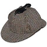 NEW WOOL TWEED DEERSTALKER SHERLOCK HOLMES COUNTRY HAT 4 SIZES FROM £7.75
