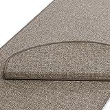 Teppich Läufer | beige gekästeltes Muster | Qualitätsprodukt aus Deutschland | GUT Siegel | kombinierbar mit Stufenmatten | viele Breiten und Längen (66 x 100cm)