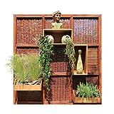 Garten Sichtschutz Trennwand aus Weide und Holz modulares System 180 x 180 cm