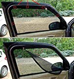 #10: True Vision Magnetic Window With Zipper Mesh Material Car Sunshades / Curtain Set of 4 for Maruti Vitara Brezza