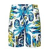 Hiroo Pantaloncini da Bagno Uomo Stampato Costume da Bagno Stile Hawaii Leisure Travel Short Pantaloncini Da Surfe Calzoncini da Spiaggia da Mare Pantaloni da spiaggia (XL(Asian XL=EU L), Multicolore)
