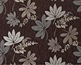 Blumen Tapete Vliestapete EDEM 641-94 Florales Muster mit Blättern Textilstruktur XXL Blumentapete braun bronze silber 10,65 qm