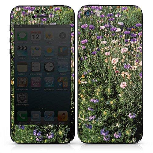 Apple iPhone SE Case Skin Sticker aus Vinyl-Folie Aufkleber Blumenwiese Wildblumen Blumenfeld DesignSkins® glänzend