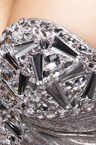 R-dessous robe bANDAGE Argenté - Argent