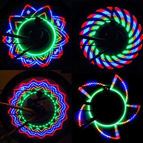 32 LED Cycling Bikes Bicycles Motorcycle Rainbow Wheel Signal Tire