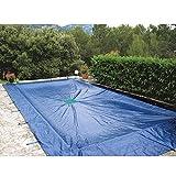 Provence Outillage 07425 Bâche pour Piscine Rectangulaire Bleu 5 x 9 m