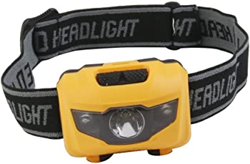 Trexee Camping Hiking Mini 3 LED White Red Light Headlight Headlamp 90 Degree Head Torch Lamp Color May Vary