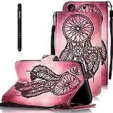Slynmax Leder Tasche Schutzhülle für HTC Desire 626G 5 Zoll Hülle Flip Wallet Case Lanyard Brieftasche Ledertasche Handyhülle HandytascheKlapphülle Cover Stand Karten Slot Magnetverschluss,Schwarz