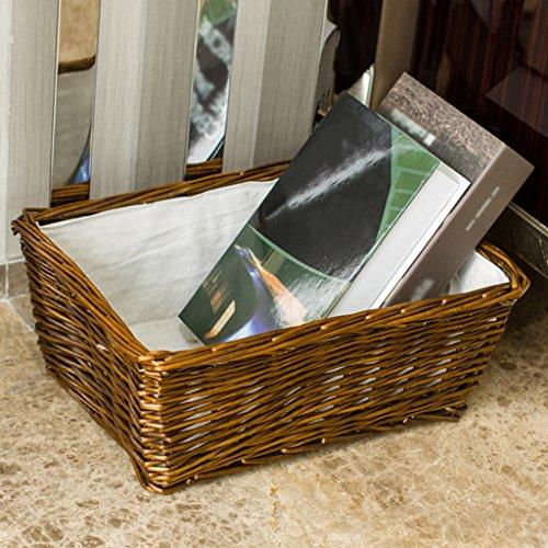 BBYE Pastoral Weave Boîte De Rangement / Desktop Debris Boîte De Rangement / Rattan Dirty Clothes Panier De Stockage / Snack Finishing Box